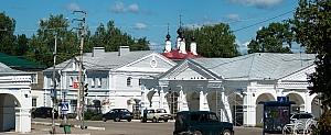 центр Галича, Богоявленская церковь, торговые ряды