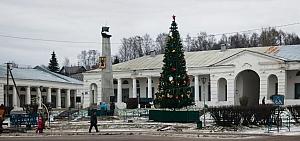 Новогодняя елка в центре Галича 2020