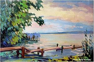 Галич. Вечер на озере. Зинаида Ведешина.